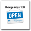 Keep Your ER Open Logo